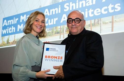 """זכיית נמל התעופה הבינלאומי ע""""ש אילן ואסף רמון בפרס הברונזה"""