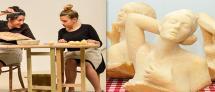 """סיור מודרך בתערוכת """"נימוסי שולחן"""" + הצגה: המתכון / קפה ועוגה"""
