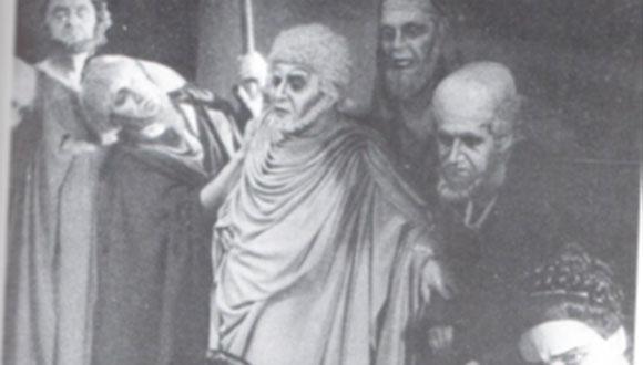 אדיפוס המלך מאת סופוקלס, תיאטרון הבימה, 1947, בימוי: טיירון גת'רי. צילום: פ' גולדמן